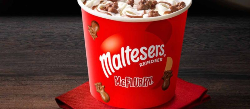 According to Daily Mirror: McDonald's Christmas McFlurry with Malteser Reindeer might be their best one yet